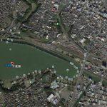【ポイントNo:2047】茨城県水戸市 「千波湖」 バス釣りポイント