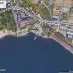 【ポイントNo:4259】山梨県富士河口湖町 「河口湖 美術館付近」 バス釣りポイント