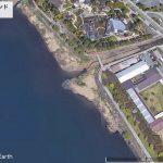 【ポイントNo:4245】山梨県富士河口湖町 「干拓ワンド」 バス釣りポイント